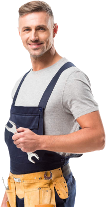 A plumber with tools in his hands